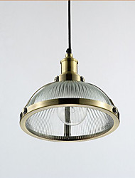 American Retro Glass Lamp Shade Bar Personality Small Pendant Lamp