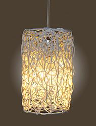 10*20CM Modern Rural Cany Art Woven Rattan Restaurant Single Head Droplight Lamp LED