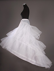 Slips Chapel Train Cathedral-Length 3 Tulle Netting White