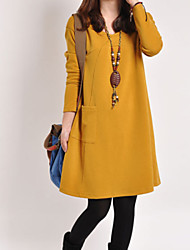 Maternity Fashion Solid Color Loose Dress