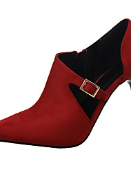 Women's Shoes Velvet Stiletto Heel Heels Heels Wedding / Dress Black / Red / Gray / Almond / Burgundy / Khaki