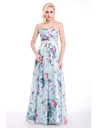 Formal Evening Dress - Print Sheath/Column Sweetheart Floor-length Chiffon
