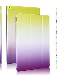 boa qualidade coldre inclinação do arco-íris de couro pu para ipad 4/3/2