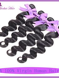 """indio virginal del pelo onda del cuerpo de 4pcs grado 7a barato extensión del pelo humano 8 """"-30"""" pelo negro natural del pelo indio"""