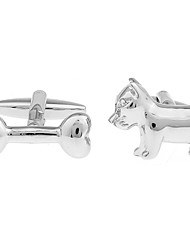 Animal bones of a small dog with a style French shirt cufflinks cuff nail