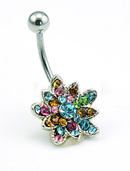 Z&X® Fashion Personality  Flowers Alloy Navel & Bell Button Rings Daily / Casual 1pc