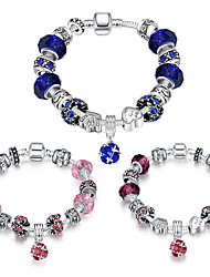 Women Strand Beads BraceletsBeads Bracelet 925 Silver Crystal Bead Charm Bracelet Fit Original glass Bracelet PH009