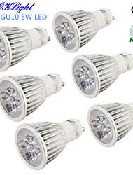 5W GU10 Spot LED R63 5 LED Haute Puissance 450 lm Blanc Chaud / Blanc Froid Décorative AC 100-240 / AC 110-130 V 6 pièces