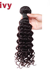 "Vivy 8""-30"" #1B Natural Black Brazilian Remy Hair Extensions Deep Wave Hair Brazilian Hair Virgin Weave Human Hair"