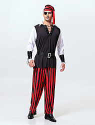New!Men's Pirates of the Caribbean Costumes,Captain Jack Cosplay For HalloweenCarnival