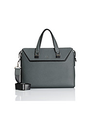 CKI Men Briefcase Top Grade Genuine Leather Men Business Handbag Vintage First Layer Cowhide Shoulder Messenger Bag Grey