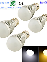 Ampoules Globe LED Décorative Blanc Chaud / Blanc Froid YouOKLight 4 pièces B E26/E27 3W 6 SMD 5730 260 LM AC 100-240 / AC 110-130 V