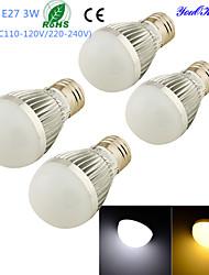 3W E26/E27 Lampadine globo LED B 6 SMD 5730 260 lm Bianco caldo / Luce fredda Decorativo AC 220-240 / AC 110-130 V 4 pezzi