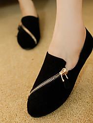 Черный / Коричневый - Женская обувь - Для прогулок / На каждый день - Ткань - На плоской подошве -Удобная обувь / С круглым носком / С