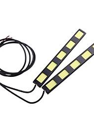 2pcs 15cm 10w torchis 5 LED voiture diurne barre lumineuse DRL Lampe de conduire (DC12V)