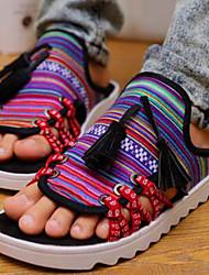 Sapatos Masculinos - Chinelos - Amarelo / Preto e Vermelho - Lona - Ar-Livre / Escritório & Trabalho / Casual / Para Esporte