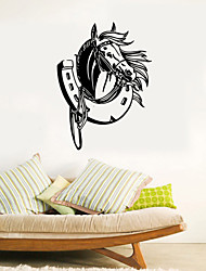 Wall Stickers Wall Decals Style Horse Shoe Waterproof Removable PVC Wall Stickers