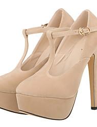 Women's Shoes Fabric Stiletto Heel Heels / Platform / Round Toe Heels Party & Evening / Dress / CasualBlack /