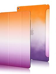 boa qualidade pu couro do arco-íris do inclinação estojo para ipad de ar 2
