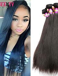 """4 unidades / lote 8 """"-30"""" cabelo malaio 7a cabelo virgem reta humano tramas 100% Mechas malaio não transformados tece"""