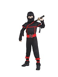 Stealth Ninja Boys Costume Child samurai warrior Anime Cosplay Fancy dress for Halloween party Dress Black Ninja Warrior Costume
