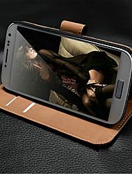Echtleder Luxus Brieftasche mit Stativ und Kartenslot für samsung galaxy i9190 s4 mini
