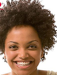 Fashion 10-28inch Kinky Afro Curly Natural Color 100% Brazilian Human Hair Wig Lace Front Wigs