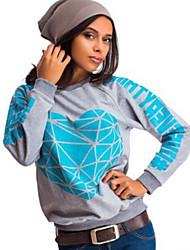 Ronde hals - Polyester - Bloem - Vrouwen - T-shirt - Lange mouw