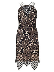 Women's  All Over Lace Cami Bodycon Dress