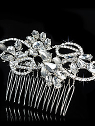 Hairpin Silver Comb for Women Rhinestone Crystals Pearls Wedding Hair Accessories Party Wedding Bridal Jewelry