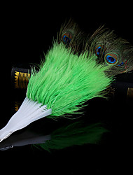 #carnival baile de plumas de pavo real # acc gran fan 60x36cm abierta