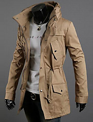 Men's Long Sleeve Long Trench coat , Cotton / Acrylic / Nylon Pure k056