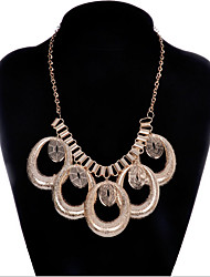 MPL New fashion gold necklace exaggerated geometric simplicity
