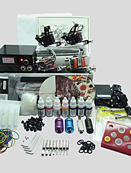 4 Guns BaseKey Tattoo Kit K405 Machine With Power Supply Grips Cups Needles(Ink not included)