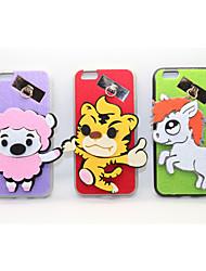 moutons / tiger / cheval pc avec une affaire moelleux pour iphone 6 / 6s