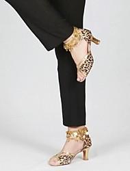 Zapatos de baile ( Leopardo ) - Latino - No Personalizables - Tacón Cuadrado