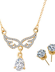 HUALUO@Angel Wings Jewelry Sets