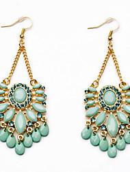 Brincos Compridos Jóias da indicação Moda Jóias de Luxo Personalizado Europeu Gema imitação de diamante Liga Caído Cor Ecrã Jóias Para