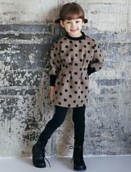 Girl's Winter / Fall Cotton Sequin Long Sleeveed Thickening  Velvet Your Waist  Dress
