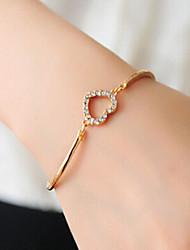 Fashion Jewelry Rhinestone Heart Bracelet
