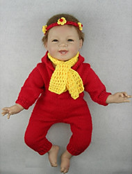 NPKDOLL Reborn Baby Doll Soft Silicone 22inch 55cm Magnetic Mouth Lovely Cute Toy Smile Princess Girl Red Dress