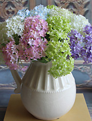 Set 1 Mini Simulation Flowers Beautiful Hydrangeas Floor Decorative Wedding Simulation Silk Flower