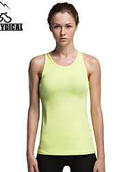 Vansydical Women's Quick Dry Yoga Tops Yellow / Red / Black