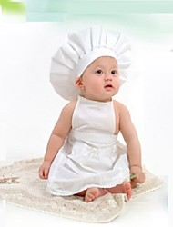 "Baby's  Modelling Clothing Set of 2pcs .""White Little Chef """