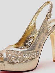 Zapatos de mujer - Tacón Stiletto - Punta Abierta - Sandalias - Oficina y Trabajo / Vestido / Casual / Fiesta y Noche -Sintético /