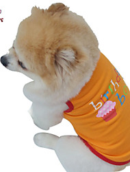 Dog / Cat Costume / Shirt / T-Shirt Purple / Orange Summer Letter & Number Wedding / Cosplay / Birthday / Holiday / Fashion