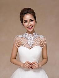Wedding Lace / Sequined Collars Sleeveless Wedding  Wraps