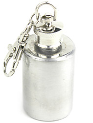Mini Stainless Steel Wine Pot Key Chain 1oz