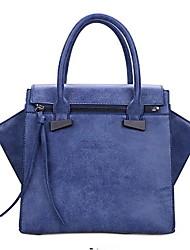 Women PU Baguette Shoulder Bag - Blue / Gray