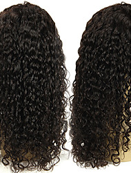 12-26inch Indian Virgin Hair Lace Front Curly Wigs With Baby Hair Glueless Lace Front Human Hair Wig Natural Color